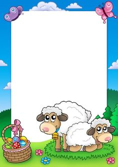 Easter-frame-com-sheep