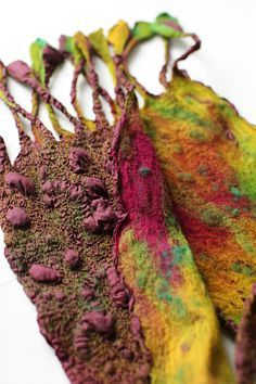 Custom 4. Nuno Felted Scarf | Australian merino wool, silk p… | Flickr