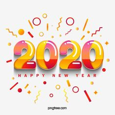 Memphis Geometric Gradient 2020 Font Vector and PNG Happy New Year Text, Happy New Year Message, Happy New Year Images, Happy New Year Wishes, Happy New Year Greetings, Happy New Year 2020, Happy New Year Vector, Memphis, Texture Gradient
