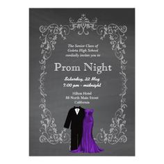 Sold this #chalkboard #prom invitation to CT