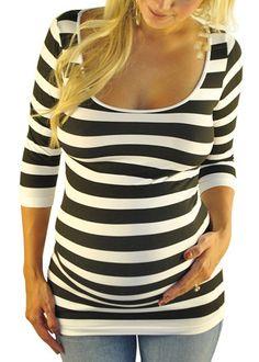Striped Maternity Tops - Back To Basics