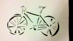 bike stencil street art