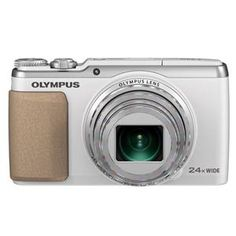 Olympus Stylus Traveller SH-60 (16MP) Digital Camera 24x Optical Zoom 3.0 inch Touch Panel LCD 39.3MB (White)