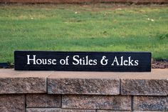 🏡House of Stiles & Aleks 🏡 Have a custom sign in mind? Painted Wood Signs, Custom Wood Signs, Last Name Signs, Stiles, Custom Paint, Painting On Wood, Wood Art, House Warming, Personalized Gifts