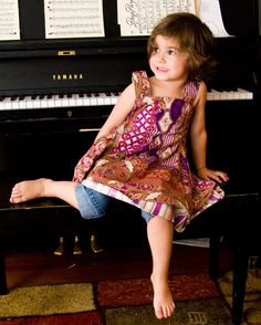 Size 3/4 Purple Tapestry Feliz Inspired Dress by NotSoGirlyTwirl, $89.00