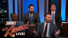 """Chris Evans, Anthony Mackie, Sebastian Stan & Paul Rudd Do Personal Trivia <<< """"I wanted to say hi, but I was on the phone with my therapist."""" - Sebastian Stan"""