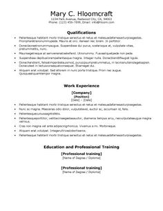 Resume electonically