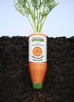 この野菜ジュースは、野菜以上に野菜そのものの旨みが詰まっていますよ!という事を訴求する、シンプルでクリエイティブなポスター広告1