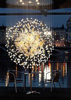 Cluster - Light + Building 2012 Frankfurt – Bubbles in Space by Jitka Kamencová Skuhravá for Lasvit lighting