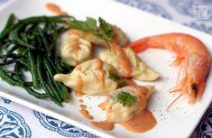 Culurzone à la crevette et au poisson (fish & shrimp ravioli)