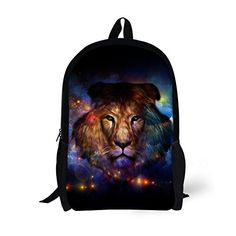 3c2d121ab92 High Quality Children Backpacks Cool Animal Lion Printing Backpack for Kids  Casual Teenager Boys School Book Bag