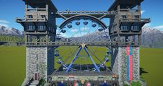 A Ferris Wheel Ride Skin. And as always a Medieval Theme =). Haunted Maze, Planet Coaster, Amusement Park Rides, Sims 4, Fairytale, Planets, Concept Art, Medieval, Video Games