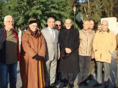 De g. à dr. : Abderrahmane Berreouane dit Saphar, Dahou Ould Kablia, Abdelmadjid Bouabdellah, Mohamed Boudaoud, à gauche de la photo