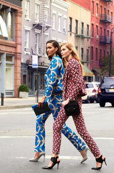 Fashionistas in suits. #streetstyle #fashion #amazing #sostylish