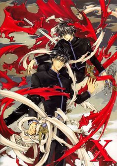 x 1999. Early series by the Clamp group. Kamui returns to Tokyo after 6 years to protect his friends Fuuma and Kotori. The end of the world, Armageddon is close as the the Dragons of Heaven and Dragons of Earth gather. Yet to be finished. - anime manga