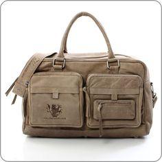 FELDMOSER 1414 Reisetasche Traveller Bag Havanna Grey Used
