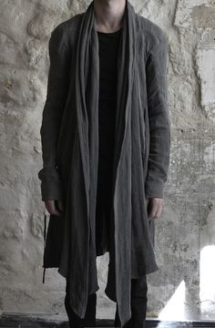 obscur -- ss 2012 _ draped linen coat, 100% linen