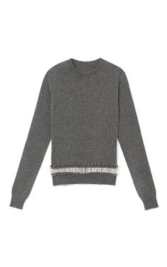 Sweater With Safety Pins by Thom Browne Now Available on Moda Operandi