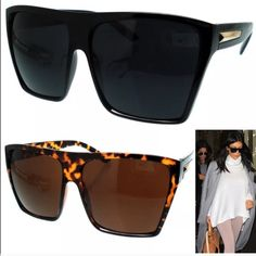 Wayfarer oversized sunglasses The same exact pair Kim kardashian has comes in server all colors, the price is for one pair only. Not Celine it's only for exposure Celine Accessories Sunglasses