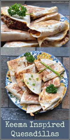 Keema Inspired Ground Beef Quesadillas bring some Indian spices to a batch of easy, cheesy quesadillas -- for a deliciously different take on your next taco night!