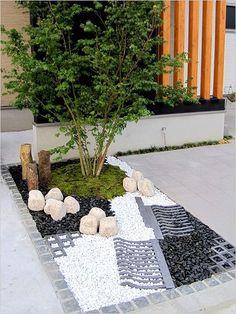 Использование камня в ландшафте #jardinzen