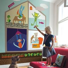 Fototapet At Home personalizat, lavmi Wall Murals, Kids Room, Toddler Bed, Pastel, Blog, Vintage, Home Decor, Character, Wallpaper Murals