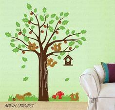 Wall Art Vinyl Decal Sticker Home Kids  Tree by artwallproject, $95.00