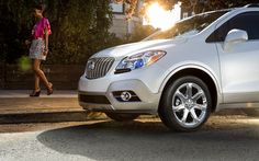 Jewel-like, blue translucent projector-beam headlamps on the #Buick #Encore contribute to its elegant exterior.