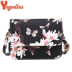 Flower and Butterfly Print Satchel Women Bag - Butterfly Bags, Butterfly Print, Types Of Bag, Kate Spade Wallet, Leather Shoulder Bag, Shoulder Bags, Fashion Handbags, Pu Leather, Vegan Leather
