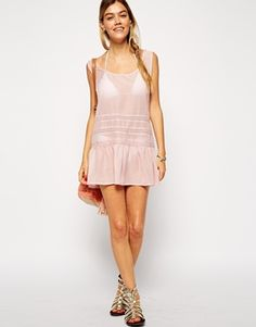 $42 - Enlarge ASOS Lace Insert Dropped Waist Beach Dress