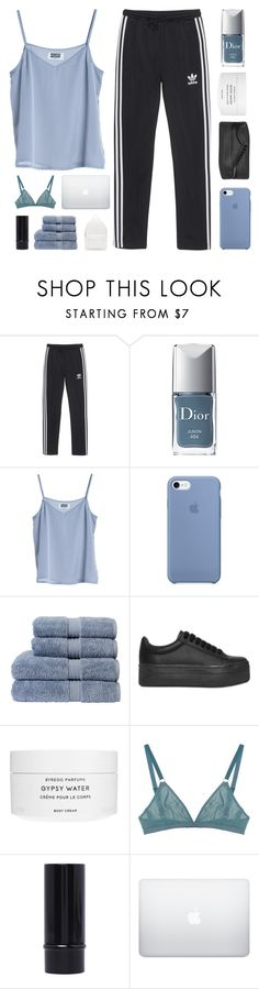 """E L Y S I A N"" by naturitve ❤ liked on Polyvore featuring adidas Originals, Christian Dior, MTWTFSS Weekday, Christy, Jeffrey Campbell, Byredo, The Nude Label and PB 0110"