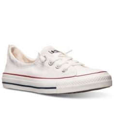 a20484ab5f3d07 Converse Women s Chuck Taylor Shoreline Casual Sneakers from Finish Line -  White 7.5