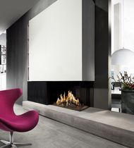 Chimenea moderna a gas mobles i decoraci interiors for Estufa hogar moderna