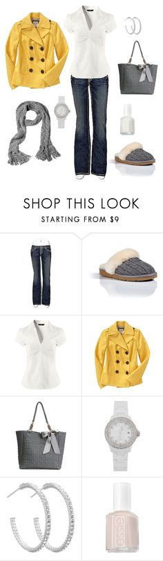 """Untitled #44"" by bbs25 ❤ liked on Polyvore featuring BKE, UGG Australia, H&M, Old Navy, Deux Lux, Toy Watch, Simply Silver and Essie"