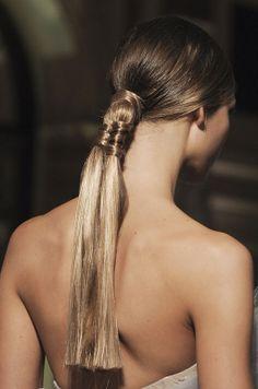 Marchesa Spring 2012 Details plaited ponytail