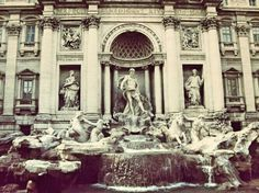 Fontana di Trevi, breathless, beautiful places to visit, in love with the city, Rome