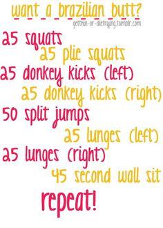 Butt workout....sounds murderous