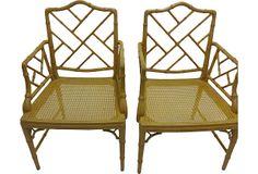 Faux-Bamboo Chairs, Pair on OneKingsLane.com