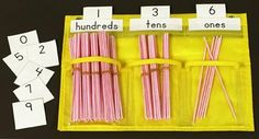 Image result for place value straws