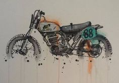 Skip Waterhouse ilustration  Corb Motorcycles