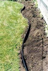 Installing Landscape Edging - guy also recommends Ace of Diamond brand