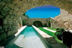 Love this pool! Swiming Pool, Swimming, Underwater Lights, Villa Design, House Design, Beach Pool, Cool Pools, Pool Houses, Pool Designs