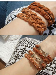 Slip knot leather bracelets diy do with cord instead of suede top 10 amazing diy bracelets fandeluxe Choice Image