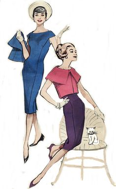 Vintage Sewing Pattern 1950s Dress and by AnnesVintagePatterns, $44.00