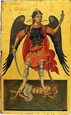 The Archangel Michael. Post-byzantine icon. 17th cent.