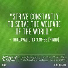 Hindu: Bhagavad Gita 3:10-26                                                                                                                                                      More