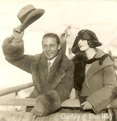 Rudolph Valentino and wife, Natacha Rambova - from my Valentino photo collection