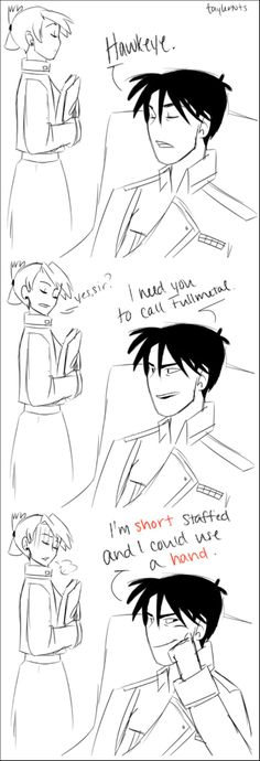 Short staffed and I could use a hand! Only Fullmetal Alchemist would get this!