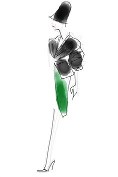 NM Insider: Oscar de la Renta Fall 2013 sketch