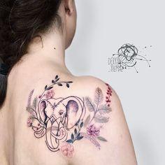 🌿🐘🍃🌺 #elephant #chance #flowers #illustration #colorful #design #tattoodesign #tattoo #ink #inked #bodyart